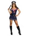 Sexy politie kostuum met licht
