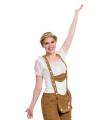 Tiroler dames topje wit