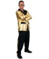 Toppers 2 delig kostuum voor heren zwart goud