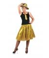 Toppers gouden pailletten rok voor dames