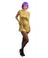 Toppers gouden pailletten shirt voor dames