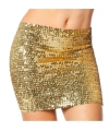 Toppers gouden top rok met pailletten