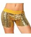 Toppers hotpants goud met pailletten