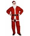 Toppers kerstman kostuum pak inclusief muts en baard