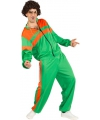 Trainingspak kostuum groen oranje