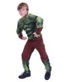Voordelig groene superheld kostuum voor jongens
