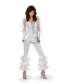 Wit disco kostuum voor dames