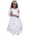 Witte bruidsjurk voor kinderen