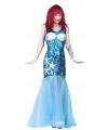Zeemeermin jurk blauw