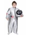 Zilveren astronauten kostuum voor kinderen
