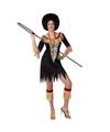 Zulu kostuum voor dames zebra print