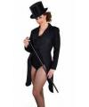 Zwarte lange slipjas voor dames