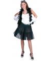 Zwarte petticoat voor dames