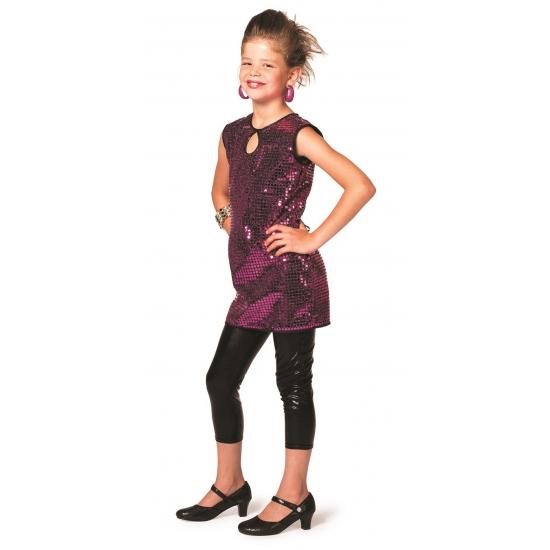2ecf5cc76eedb3 Disco jurkje paars meisjes bij Kostuum Voordeel altijd het voordeligst