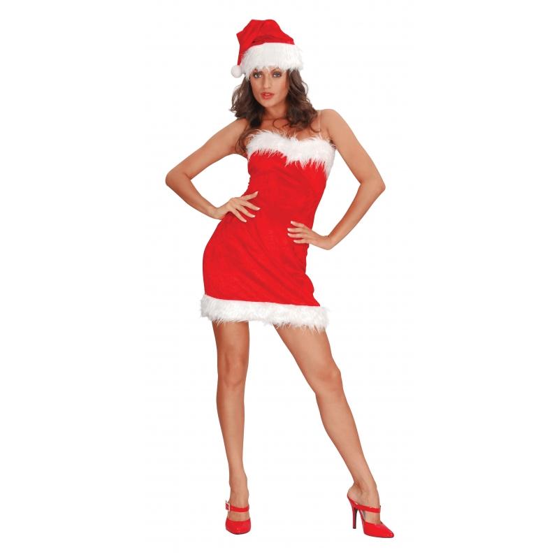 3b18d93b3b62fa Strapless sexy kerst jurkje bij Kostuum Voordeel altijd het voordeligst