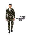 Batman heren kostuum maat 56 xxxl met gratis zonnebril