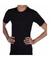 Warmte shirt zwart met korte mouwen