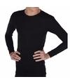 Warmte shirt zwart met lange mouwen