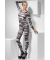 Strakke jumpsuit met camouflage print
