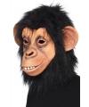 Zwart chimpansee masker latex
