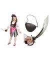 Compleet roze piraten kostuum voor meisjes