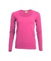 Dames shirts roze lange mouwen 200 gram
