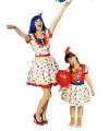 Meisjes clowns carnavalskleding