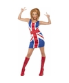 Ginger spice girl kostuum met pruik voor dames