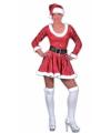 Kerstvrouw jurk met muts rood