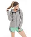 Wintersport fleece vest grijs voor dames