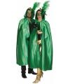 Groene satijnen cape voor volwassenen