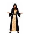 Halloween horror duistere vrouw jurk zwart met goud