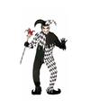 Halloween horror harlekijn kostuum voor heren