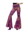 Hippie broek paars roze voor dames