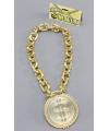 Gouden schakel ketting met dollar