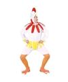 Kip haan kostuum wit voor volwassenen