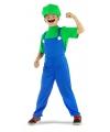 Loodgieter kostuum groen voor jongens
