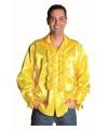 Geel heren overhemd met rouches