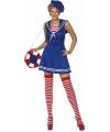 Blauw sailor jurkje met baret