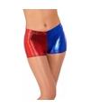 Metallic hotpants rood blauw voor dames