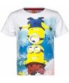 Minions kinder t-shirt wit