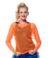 Visnet shirt oranje