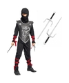 Ninja kostuum maat m met dolken voor kinderen