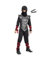 Ninja kostuum maat s met vechtstokken voor kinderen