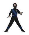 Ninja kostuum zwart blauw voor kinderen