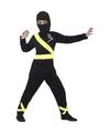 Ninja kostuum zwart geel voor kinderen