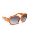 Oranje dames bril met steentjes