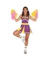 Paars geel cheerleader jurkje voor dames