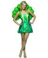 Groen pauwen jurkje voor vrouwen