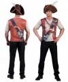 Heren t-shirt met piraten opdruk 3D